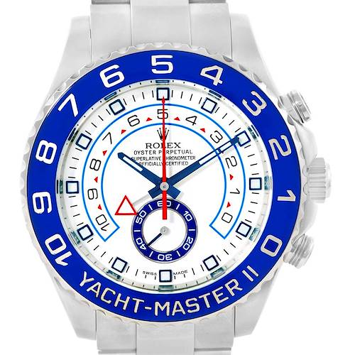 Photo of Rolex Yachtmaster II Stainless Steel Blue Bezel Mens Watch 116680