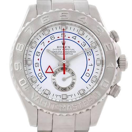 Photo of Rolex Yachtmaster II 18k White Gold Mens Watch 116689
