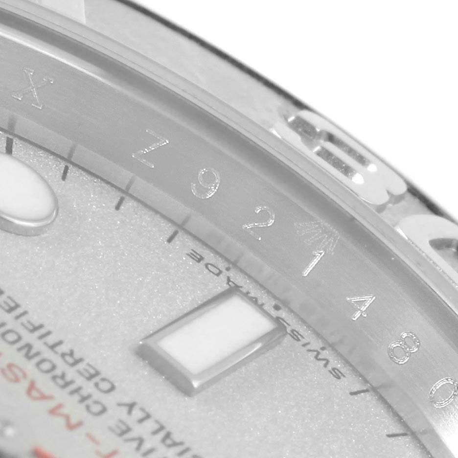 Rolex Yachtmaster 40mm Steel Platinum Dial Bezel Mens Watch 16622 SwissWatchExpo