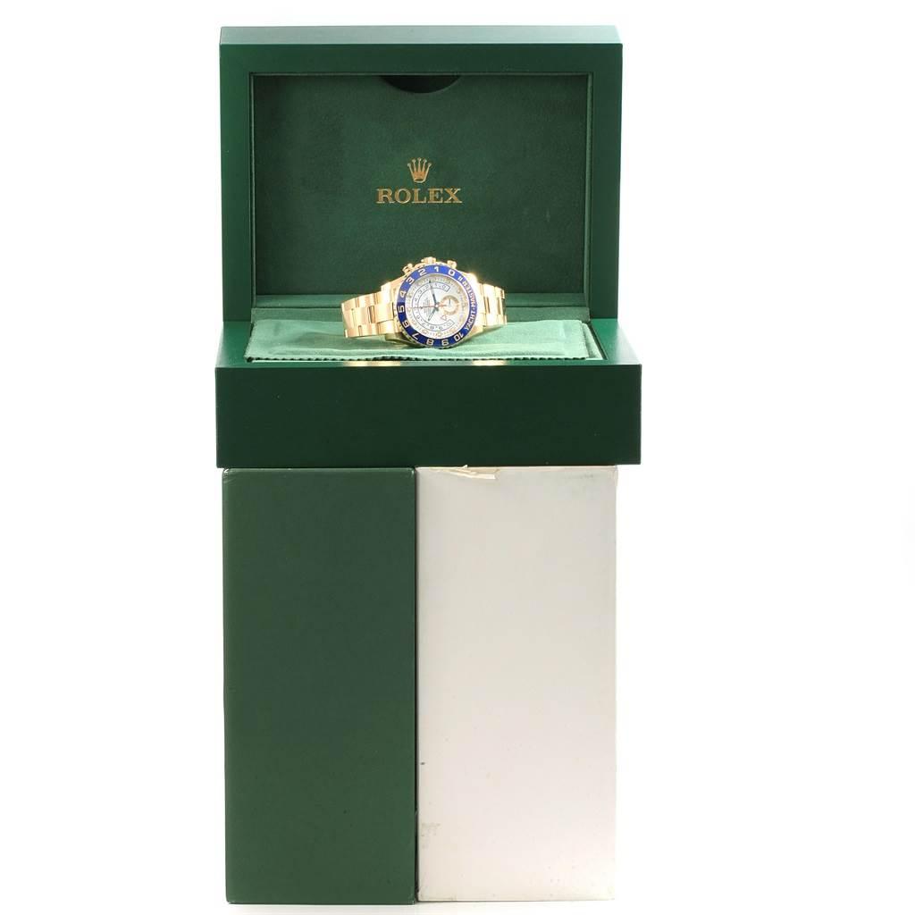 Rolex Yachtmaster II Regatta Chronograph Yellow Gold Watch 116688 SwissWatchExpo