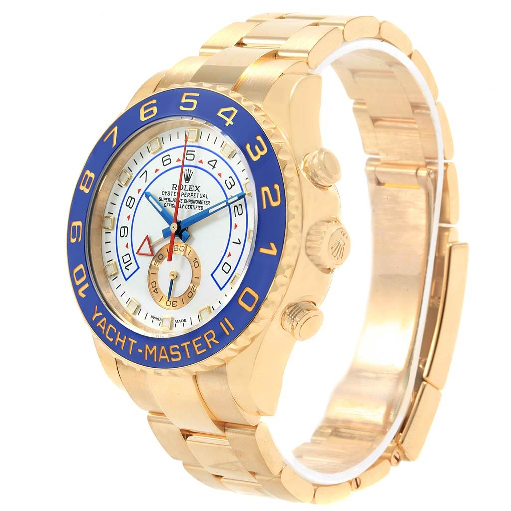18698 Rolex Yachtmaster II Regatta Chronograph Yellow Gold Watch 116688 SwissWatchExpo