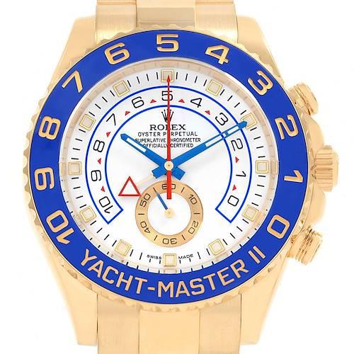 Photo of Rolex Yachtmaster II Regatta Chronograph Yellow Gold Watch 116688