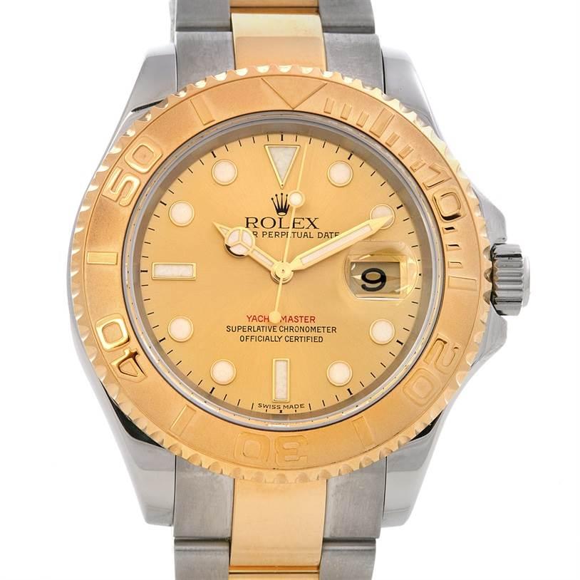 2384 Rolex Mens Steel 18k Yellow Gold Yachtmaster Watch 16623  SwissWatchExpo