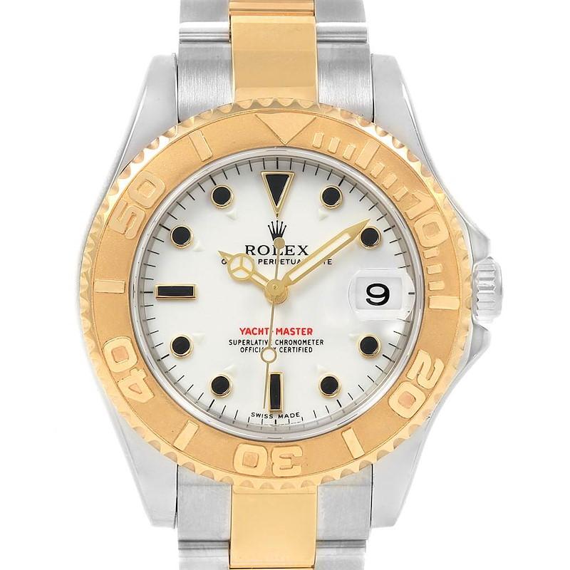 Rolex Yachtmaster 35mm Midsize Steel Yellow Gold Unisex Watch 168623 SwissWatchExpo