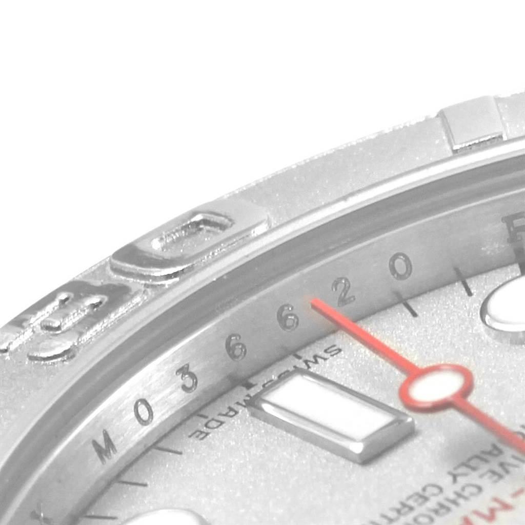 21095 Rolex Yachtmaster 35 Midsize Steel Platinum Dial Bezel Mens Watch 168622 SwissWatchExpo