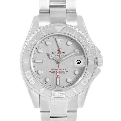 Photo of Rolex Yachtmaster 35 Midsize Steel Platinum Unisex Watch 168622