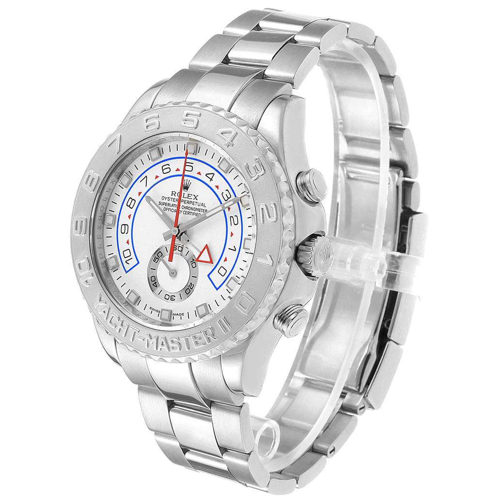 22573 Rolex Yachtmaster II Regatta Chronograph White Gold Platinum Watch 116689 SwissWatchExpo