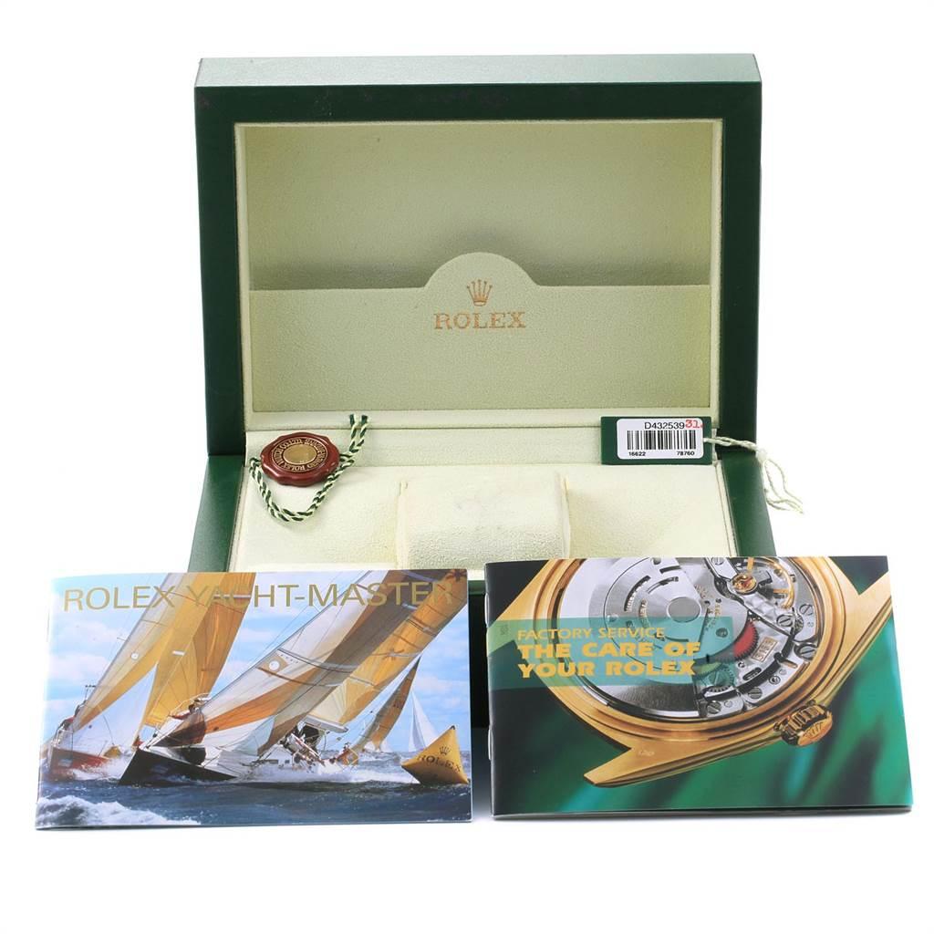 22552 Rolex Yachtmaster 40 Steel Platinum Automatic Mens Watch 16622 SwissWatchExpo