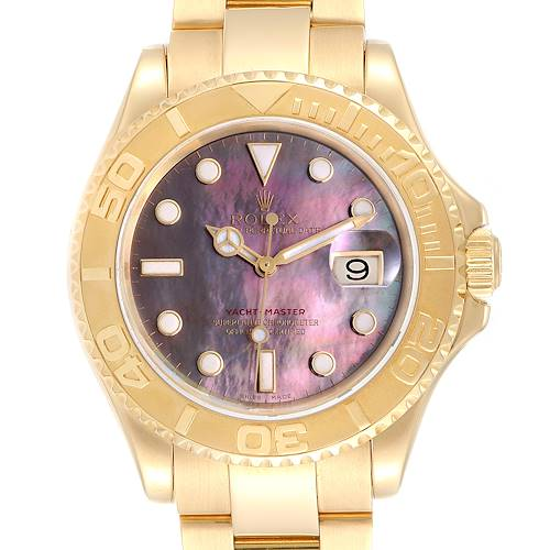 Photo of Rolex Yachtmaster 40 Yellow Gold Mother of Pearl Dial Mens Watch 16628