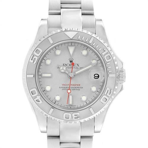 Photo of Rolex Yachtmaster 35mm Midsize Steel Platinum Mens Watch 168622