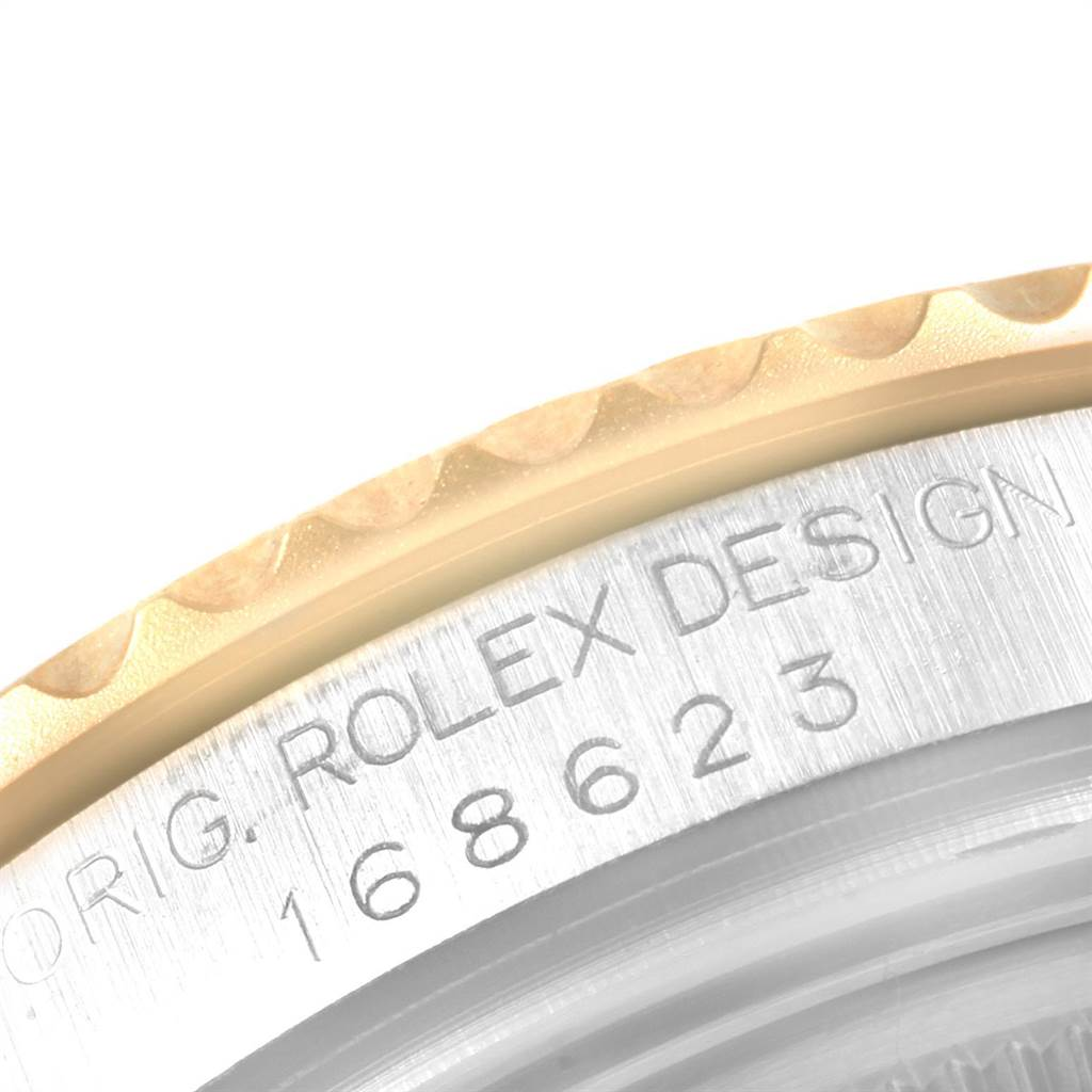 Rolex Yachtmaster 35 Midsize Steel Yellow Gold Watch 168623 Box Papers SwissWatchExpo