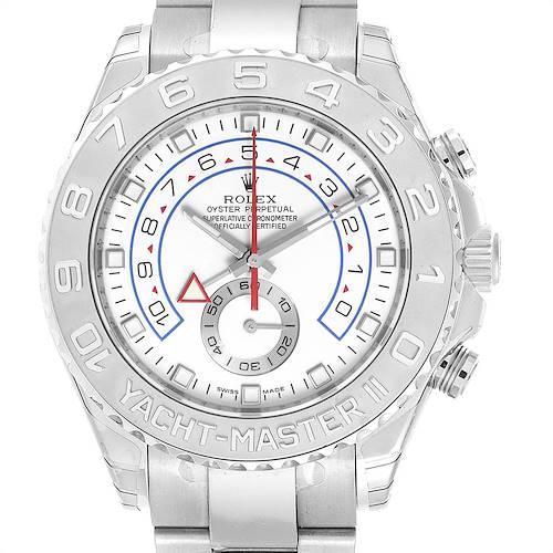 Photo of Rolex Yachtmaster II Regatta White Gold Platinum Watch 116689 Unworn