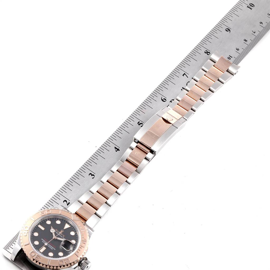 23578 Rolex Yachtmaster 40 Everose Gold Steel Black Dial Watch 116621 Box Card SwissWatchExpo
