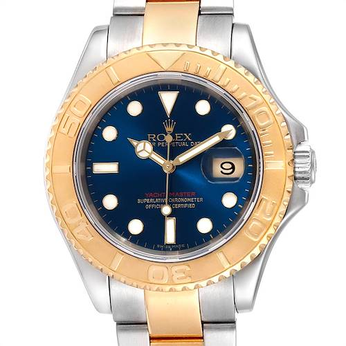 Photo of Rolex Yachtmaster 40 Steel Yellow Gold Blue Dial Mens Watch 16623 Box