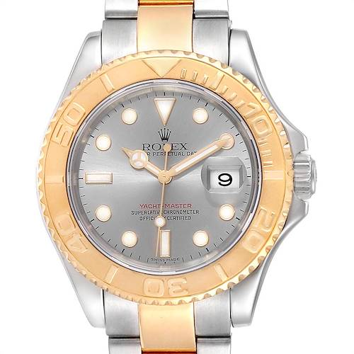 Photo of Rolex Yachtmaster Steel Yellow Gold Slate Dial Mens Watch 16623
