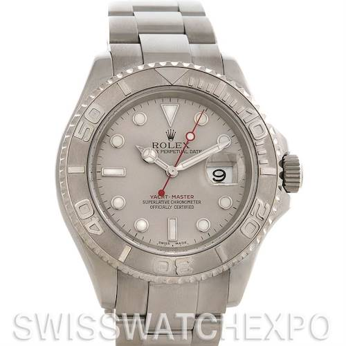Photo of Rolex Mens SS & Platinum Yachtmaster 16622 Year 2007