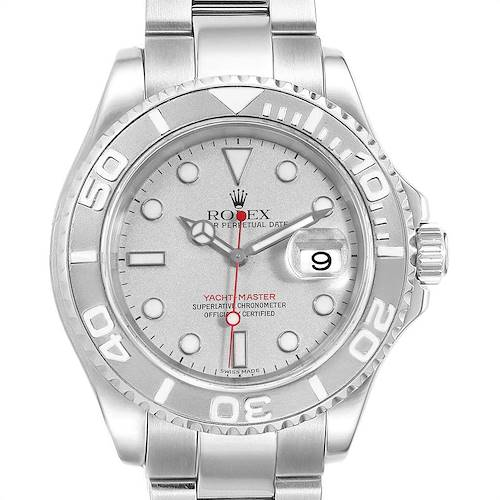 Photo of Rolex Yachtmaster 40 Steel Platinum Automatic Mens Watch 16622