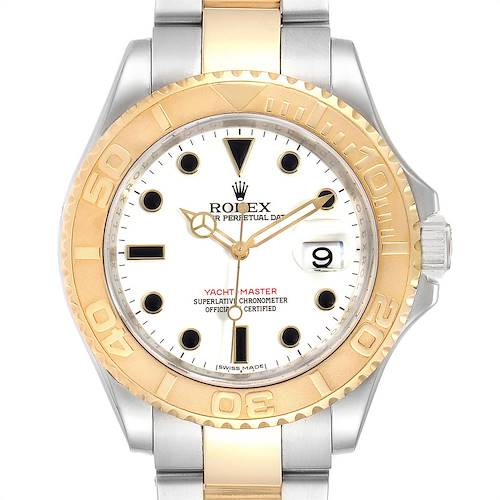 Photo of Rolex Yachtmaster 40 Steel Yellow Gold White Dial Mens Watch 16623