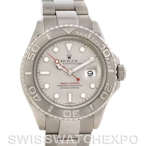 Photo of Rolex  Mens SS & Platinum Yachtmaster 16622 Year 2002