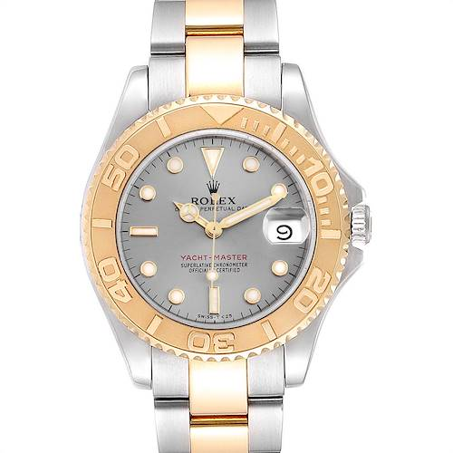 Photo of Rolex Yachtmaster 35 Midsize Steel Yellow Gold Watch 68623 Box PApers