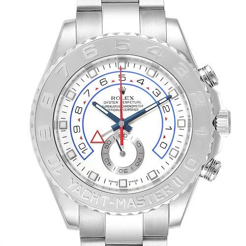 Photo of Rolex Yachtmaster II Regatta White Gold Platinum Watch 116689 Box Card