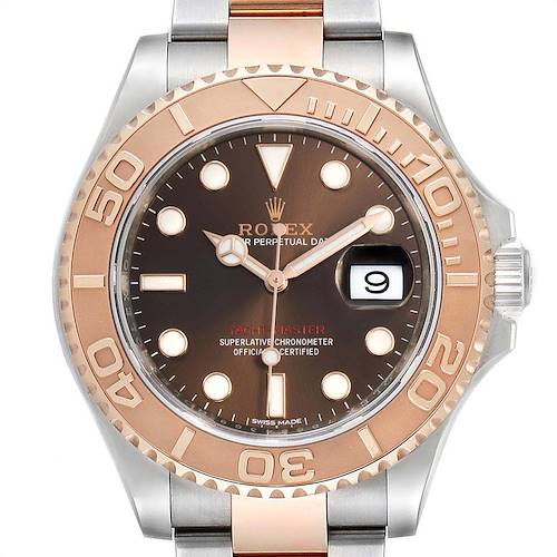 Photo of Rolex Yachtmaster 40 Everose Gold Steel Brown Dial Mens Watch 116621