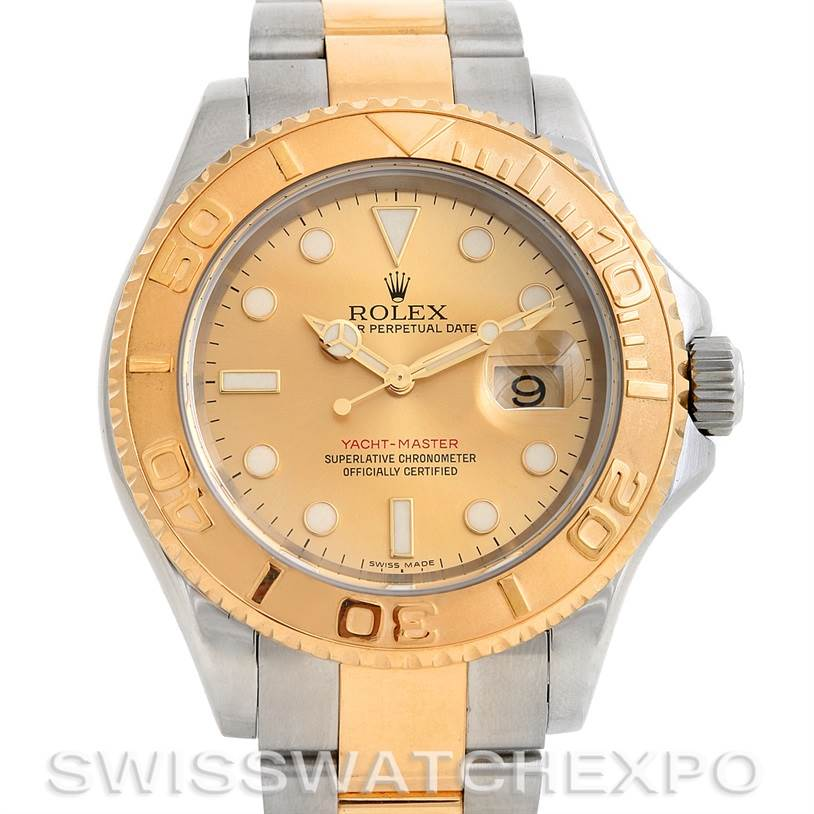 2744 Rolex Mens Steel 18k Yellow Gold Yachtmaster Watch 16623  SwissWatchExpo