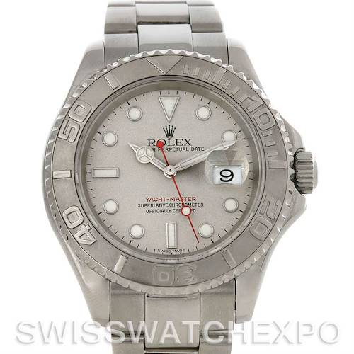 Photo of Rolex  Mens SS & Platinum Yachtmaster 16622 Year 2001