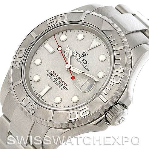 3024 Rolex Yachtmaster Mens Steel & Platinum Watch 16622  SwissWatchExpo