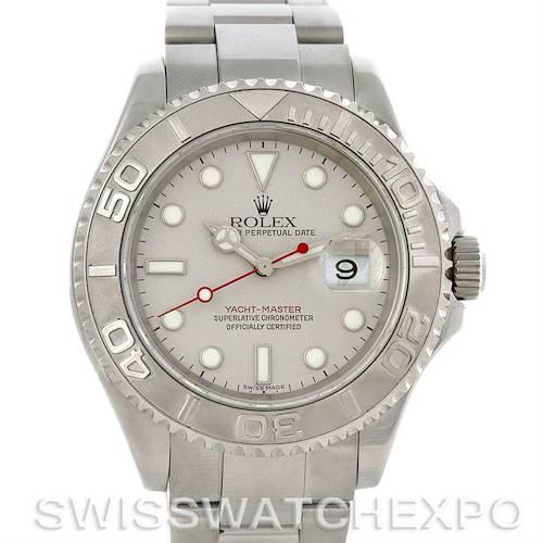 Photo of Rolex Yachtmaster Mens Steel & Platinum Watch 16622