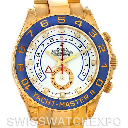 Photo of Rolex Yachtmaster II 18k Yellow Gold Mens Watch 116688WAO