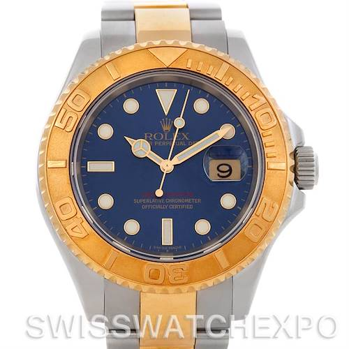 Photo of Rolex Yachtmaster Mens Steel 18K Yellow Gold Watch 16623