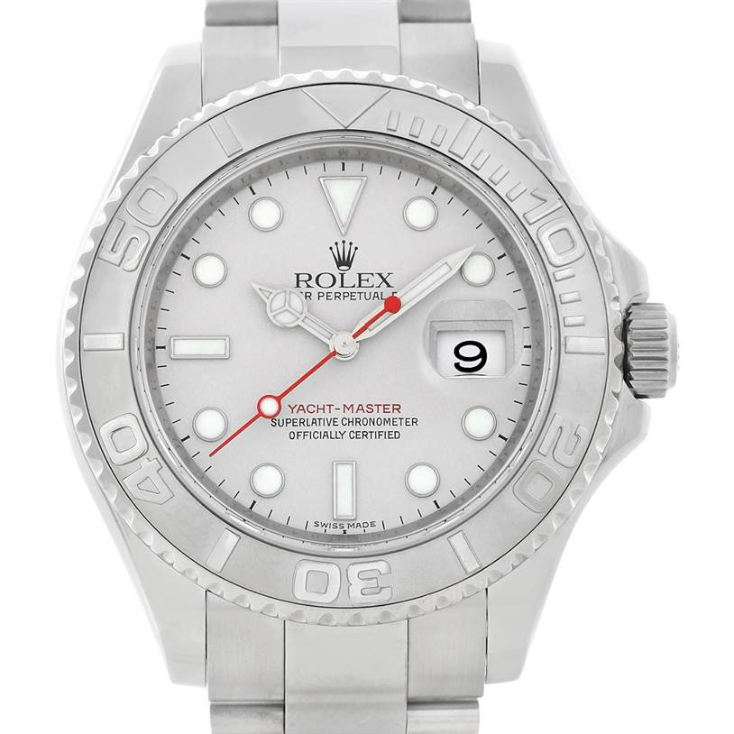 5372 Rolex Mens Steel Platinum Yachtmaster 16622 Watch SwissWatchExpo