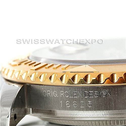 6989 Rolex Yachtmaster Mens Steel Gold Watch 16623 SwissWatchExpo