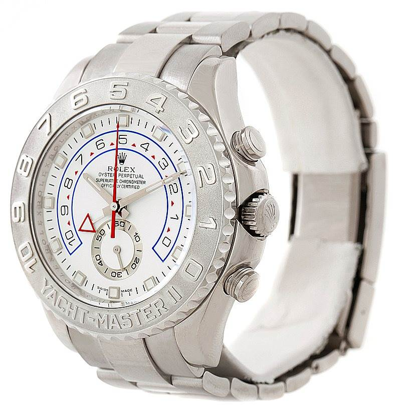 rolex yachtmaster ii 18k white gold mens 116689