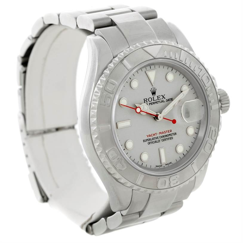 7835 Rolex Yachtmaster Mens Steel Platinum Watch 16622 SwissWatchExpo