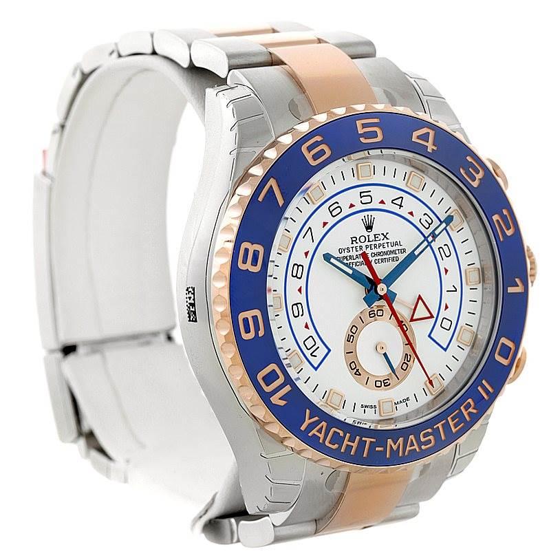 rolex yachtmaster ii steel 18k gold mens 116681