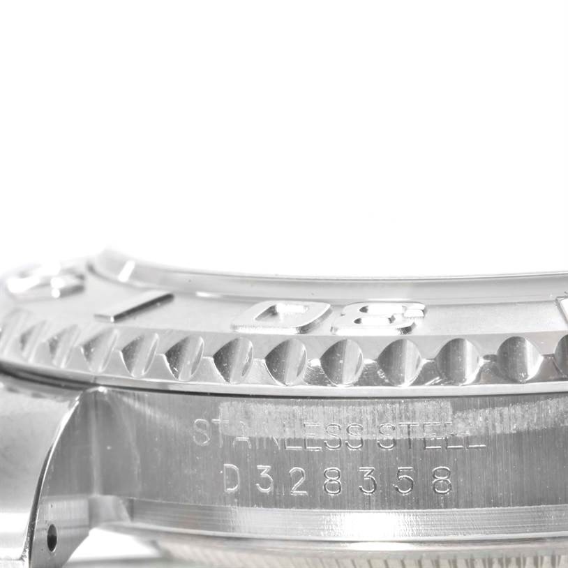 9905 Rolex Yachtmaster Mens Stainless Steel Platinum Watch 16622 SwissWatchExpo
