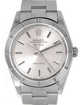 Photo of Rolex Mens Air King Silver Stick Dial 14010 Year 2006