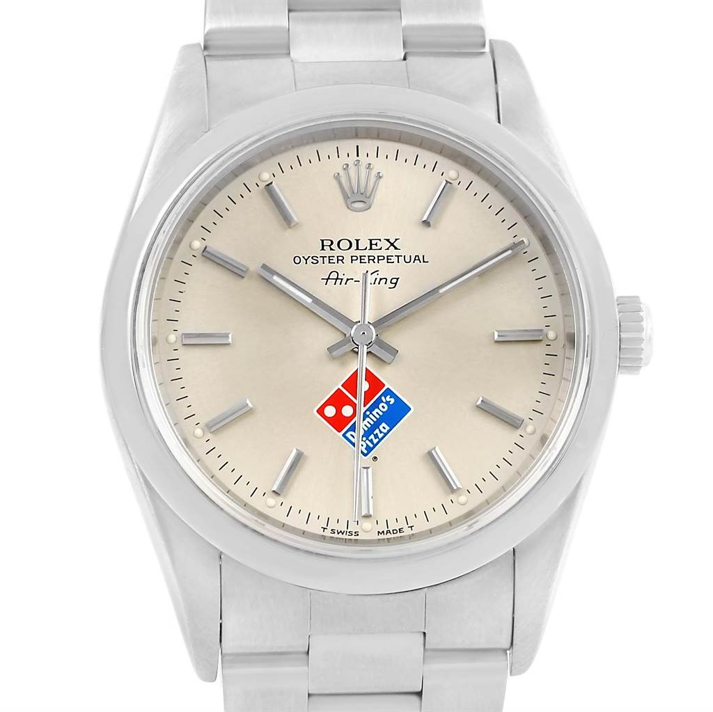 487154e3ad684 14186 Rolex Air King Domino s Pizza Special Eddition Steel Mens Watch 14000  SwissWatchExpo ...