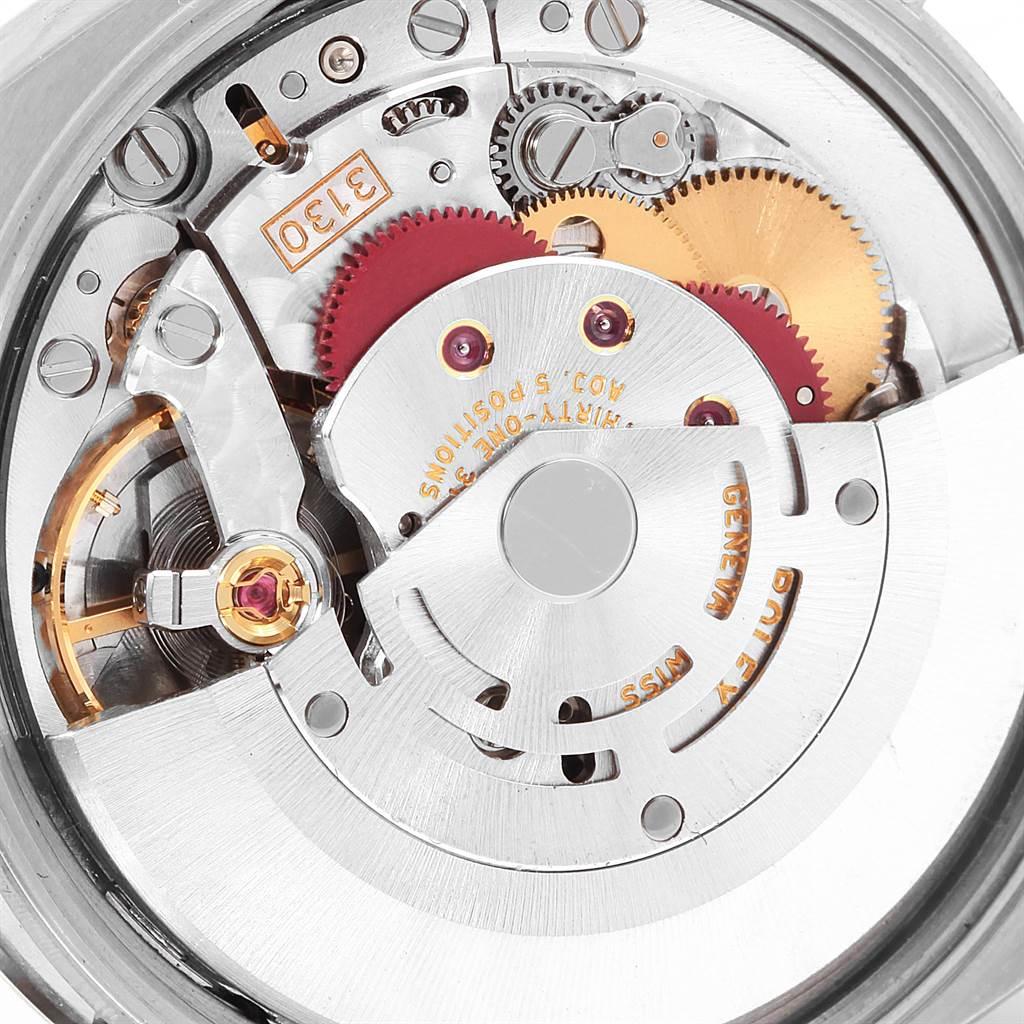 17479 Rolex Air King Silver Orange Dial Steel Mens Watch 114200 SwissWatchExpo