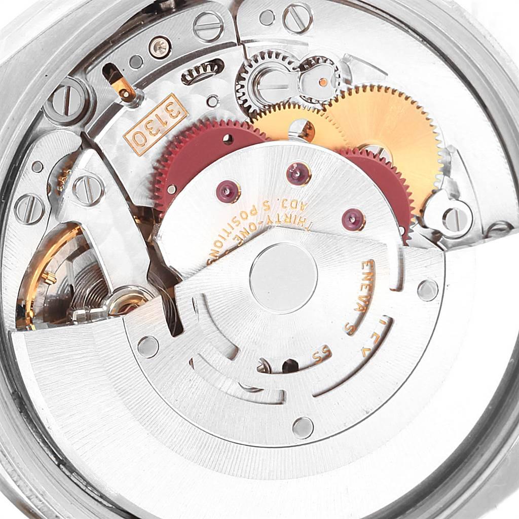 17646 Rolex Air King Steel 18K White Gold Bezel Silver Dial Mens Watch 114234 SwissWatchExpo