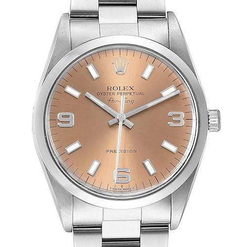 Photo of Rolex Air King 34mm Salmon Dial Steel Unisex Watch 14000
