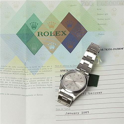 2298 Rolex Ss Oyster Perpetual Air King Watch 14000 SwissWatchExpo