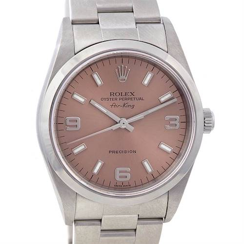 Photo of Rolex Oyster Perpetual Air King Mens Ss Watch 14000m