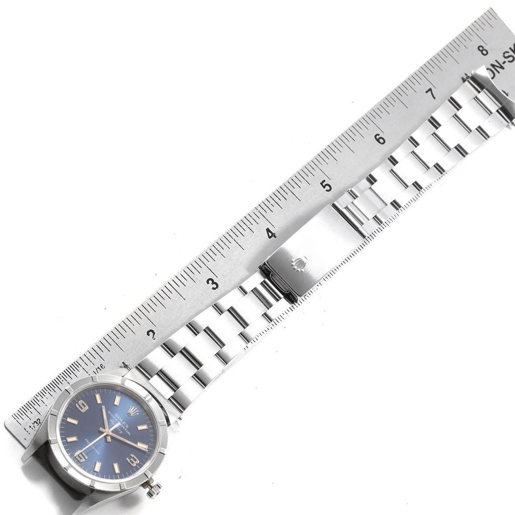 1f522d69baac 20028 Rolex Air King 34 Blue Dial Oyster Bracelet Steel Unisex Watch 14010  SwissWatchExpo ...