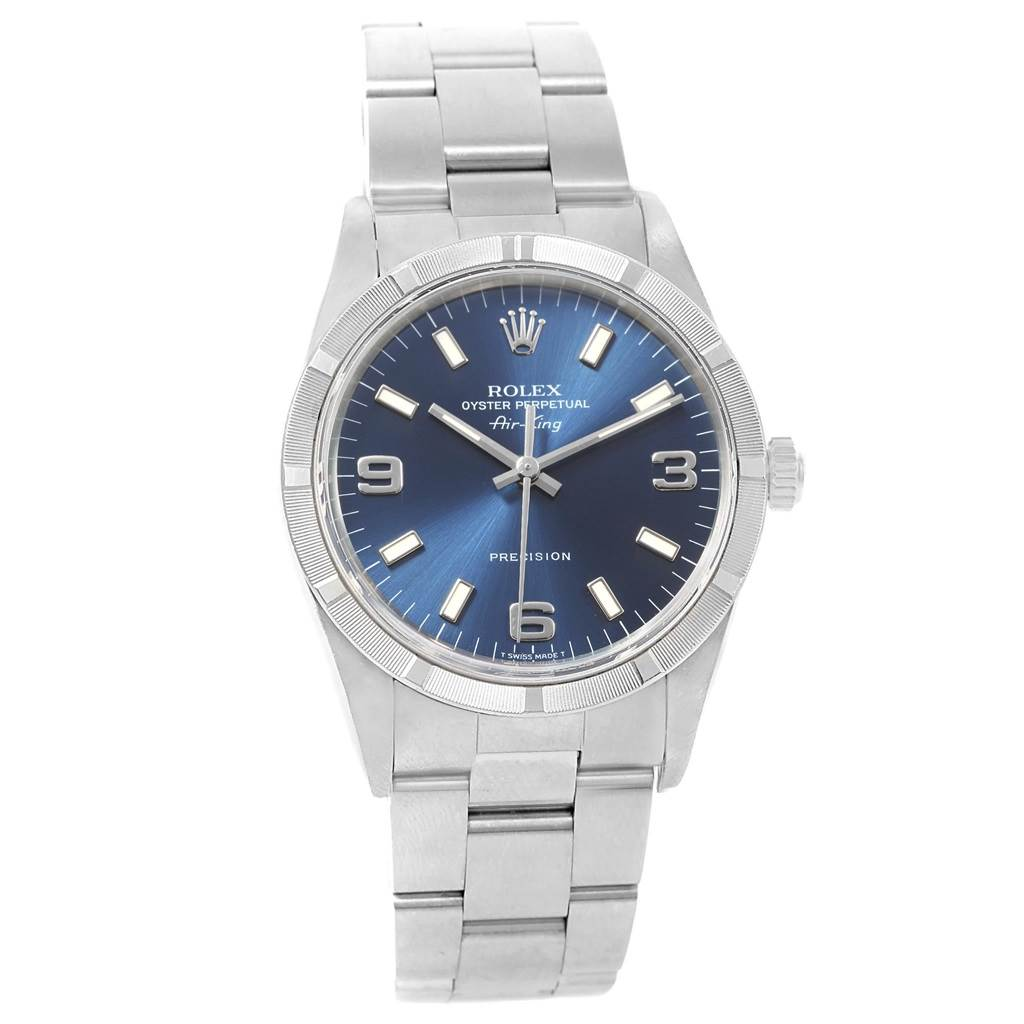 7e6b61dde716 ... 20028 Rolex Air King 34 Blue Dial Oyster Bracelet Steel Unisex Watch  14010 SwissWatchExpo ...