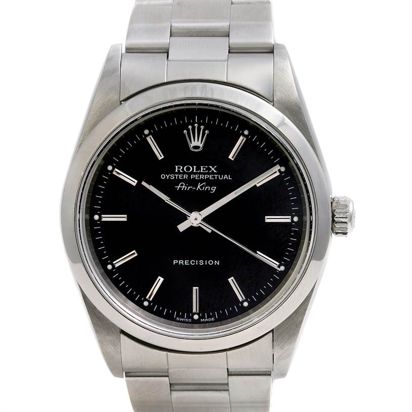 2419 Rolex Ss Oyster Perpetual Air King Watch 14000 SwissWatchExpo