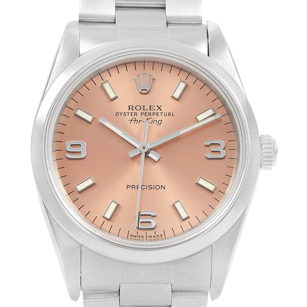 21199 Rolex Air King 34mm Automatic Steel Unisex Watch 14000 SwissWatchExpo