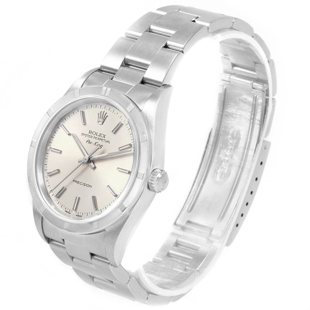 21462 Rolex Air King 34 Oyster Bracelet Steel Mens Watch 14010 Box Papers SwissWatchExpo